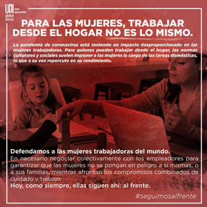 Poster - For women, working from home is not the same - en español